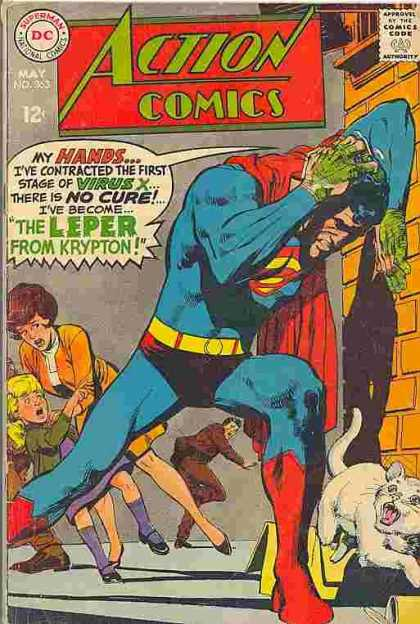 Action Comics 363 - Cat - Mother - Superman - Neal Adams