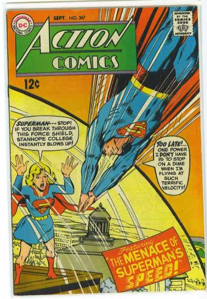 Action Comics 367 - Supergirl - Force Shield - Superman - Superwoman - Speed - Neal Adams