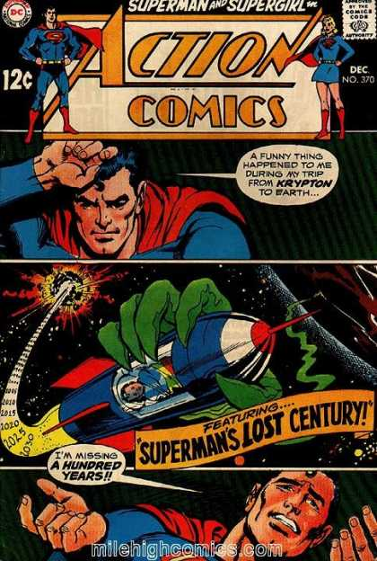 Action Comics 370 - Space - Superman - Supergirl - Krytpon - Lost Century - Neal Adams