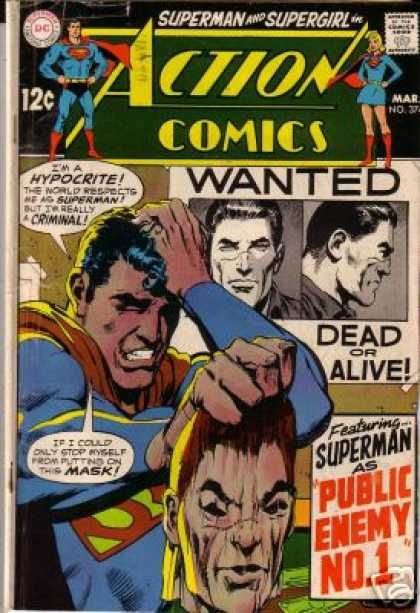 Action Comics 374 - Mask - Wanted - Supergirl - Criminal - Neal Adams