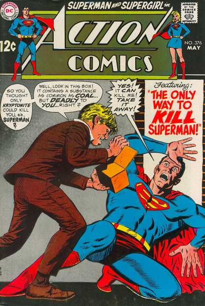 Action Comics 376 - Superman - Box - Supergirl - Kryptonite - Curt Swan