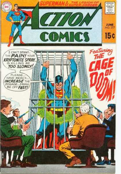 Action Comics 377 - Superman - Cage - Kryptonite - Guns - Curt Swan, Neal Adams