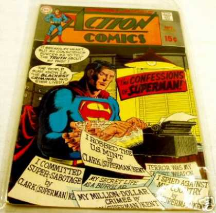 Action Comics 380 - Superman - Confession - Typewriter - Curt Swan, Murphy Anderson