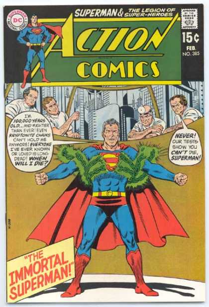 Action Comics 385 - Superman - Kryptonite - Doctors - Chains - City - Curt Swan, Murphy Anderson