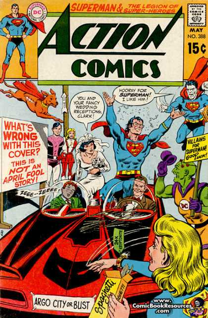 Action Comics 388 - Bizarro - Lois Lane - Superman - Wedding - Krypto - Curt Swan, Murphy Anderson
