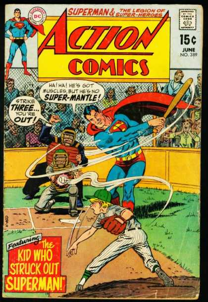 Action Comics 389 - Baseball - Umpire - Superman - Curt Swan, Murphy Anderson