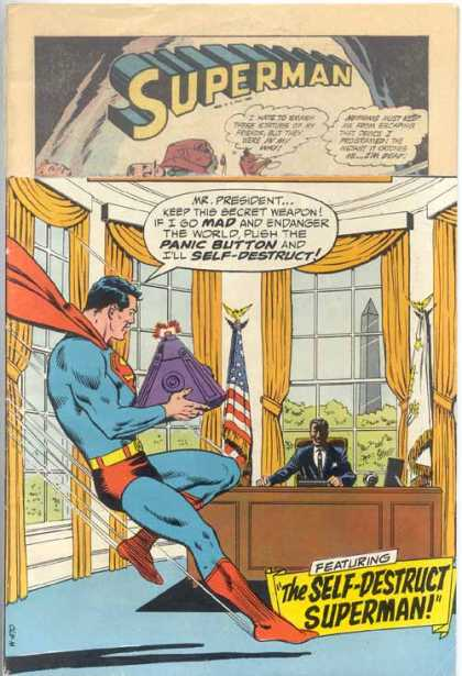 Action Comics 390 - President - Oval Office - Bomb - Superman - Spiderman - Curt Swan, Murphy Anderson