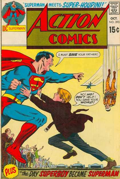 Action Comics 393 - Superman - Crowd - Superboy - Chains - Boy - Curt Swan, Murphy Anderson