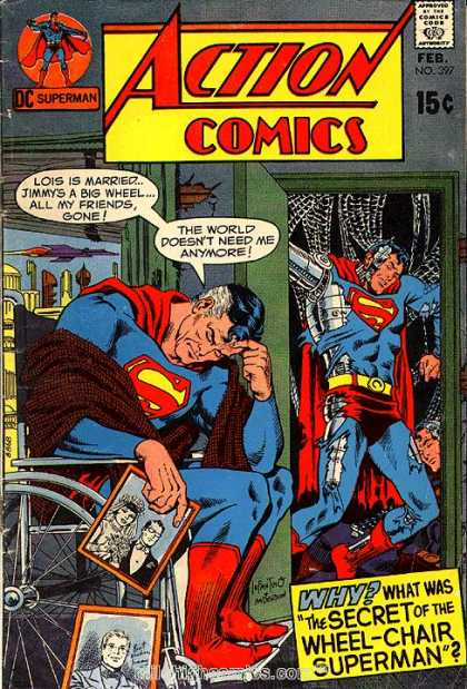 Action Comics 397 - Robot - Wheelchair - Superman - Carmine Infantino, Murphy Anderson