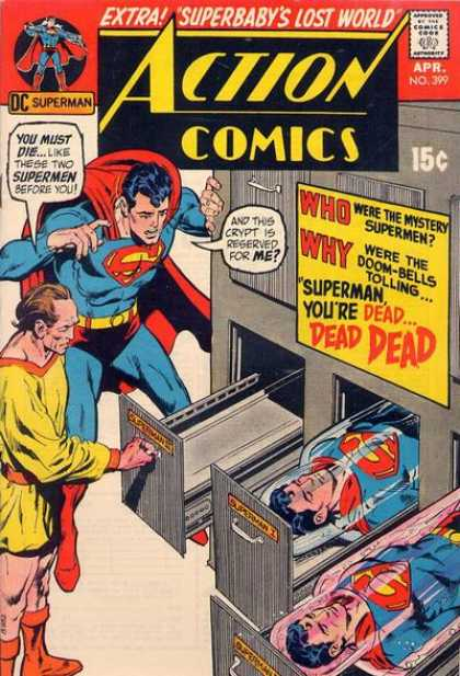 Action Comics 399 - Superman - Dead - Morgue - Superbaby - Crypt - Dick Giordano, Neal Adams