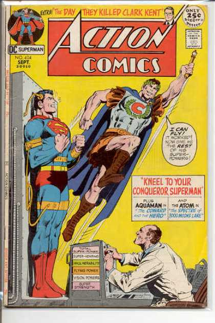 Action Comics 404 - Aquaman - The Day They Killed Clark Kent - Kneel To Your Conqueror Superman - The Atom - Vision Powers - Dick Giordano, Neal Adams