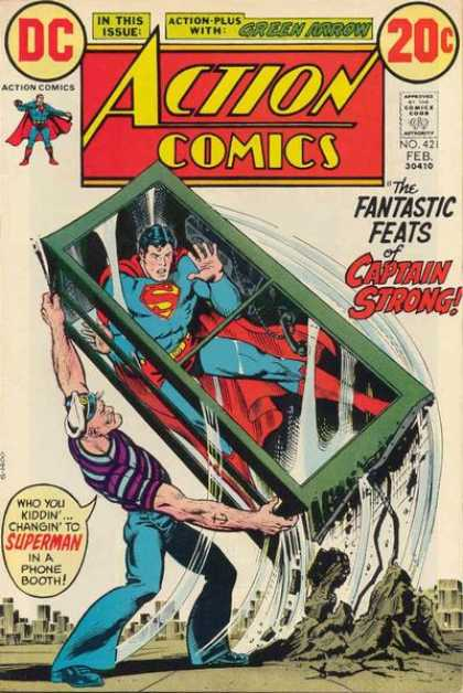Action Comics 421 - Superman - Popeye - Phone - Booth - Strong - Nick Cardy