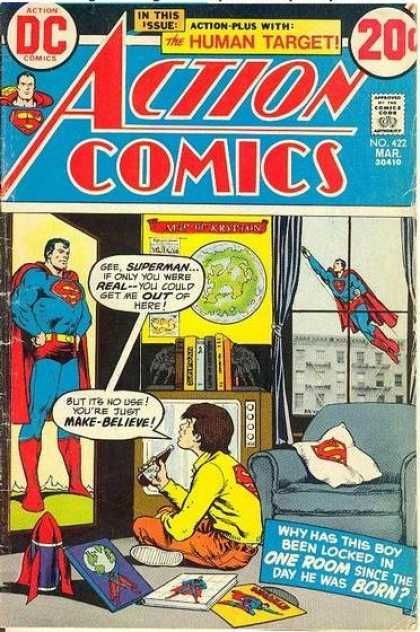 Action Comics 422 - Window - Poster - Television - Superman - Rocket - Nick Cardy