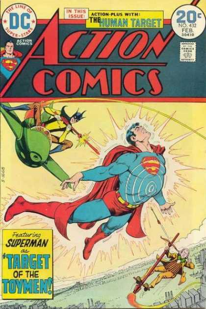 Action Comics 432 - Toymen - Target Of The Toymen - Superman - Plane - Dc - Nick Cardy
