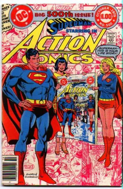 Action Comics 500 - Superman - Supergirl - Life Story - Superwoman - Capes - Dick Giordano, Ross Andru