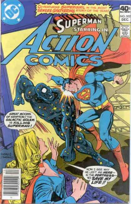 Action Comics 502 - Superman - Galactic Golem - Red Boots - Red Cape - Blonde - Dick Giordano, Ross Andru