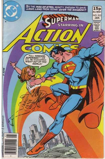 Action Comics 503 - Superman - Grab - Pull - Rainbow - Dick Giordano, Ross Andru