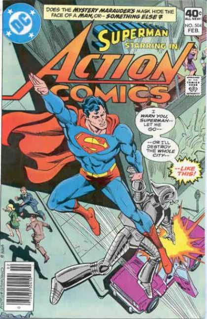 Action Comics 504 - Robot - Superman - Super Man - Explosion - People - Dick Giordano, Ross Andru