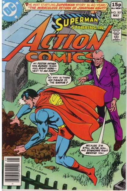 Action Comics 507 - Superman - Jonathan Kent - Grave - Dick Giordano, Ross Andru