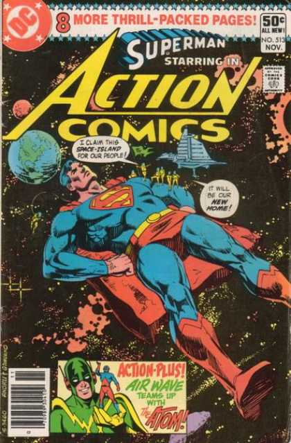 Action Comics 513 - Superman - Atom - Earth - Dick Giordano, Ross Andru