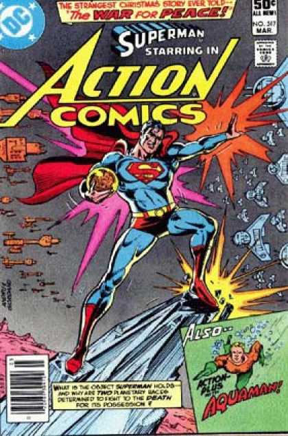 Action Comics 517 - Aquaman - Superman - War - Space - Dick Giordano, Ross Andru