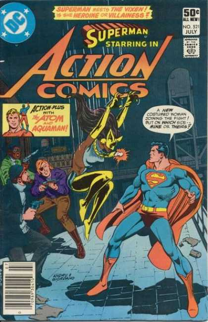 Action Comics 521 - Superman - Aquaman - Eye Patch - Urban - Black - Dick Giordano, Ross Andru