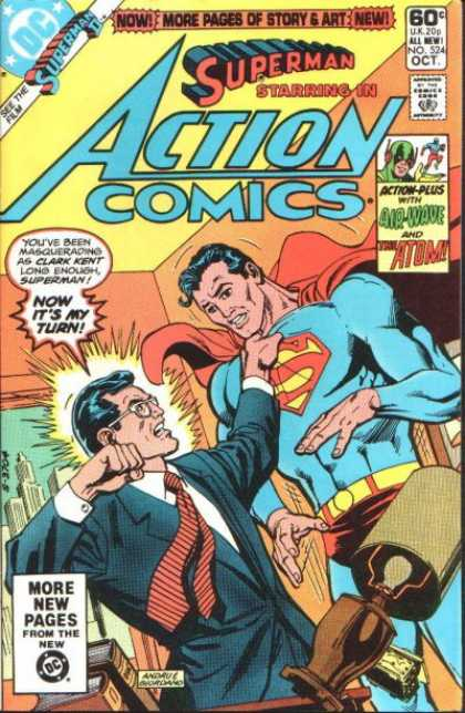 Action Comics 524 - Superman - Clark Kent - Atom - Lamp - Dick Giordano, Ross Andru