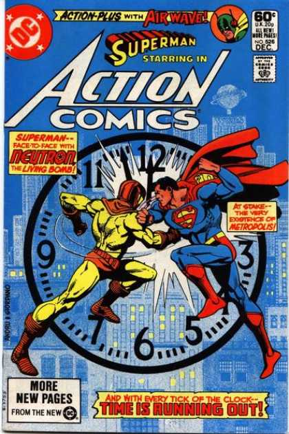Action Comics 526 - Clock - Neutron - Superman - Daily Planet - Dick Giordano, Ross Andru