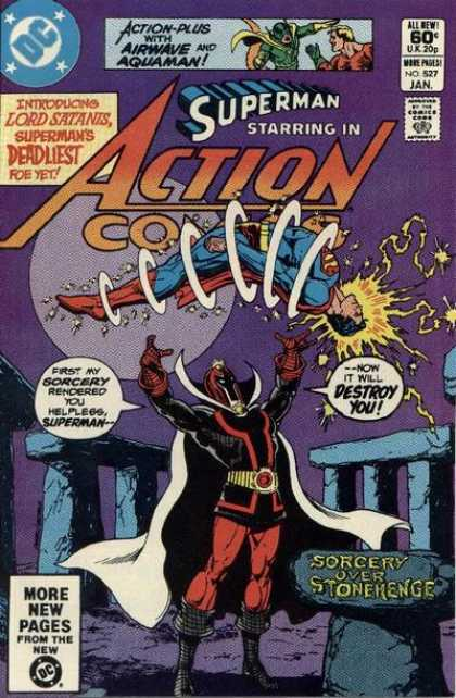 Action Comics 527 - Sorcery - Stonehenge - Lord Satanis - Superman - Ross Andru