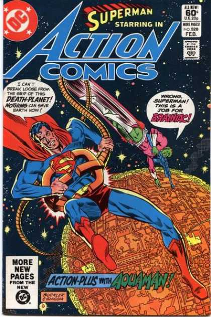 Action Comics 528 - Brainiac - Superman - Death-planet - Earth In Distress - February - Richard Buckler