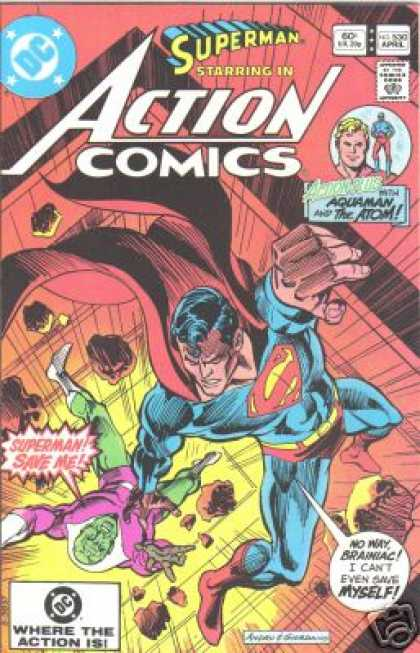 Action Comics 530 - Superman - Aquaman - Fall - Brainiac - Atom - Dick Giordano, Ross Andru