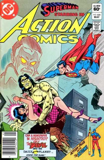 Action Comics 531 - Superman - Atom - Lois Lane - Daily Planet - Zombie - Ross Andru
