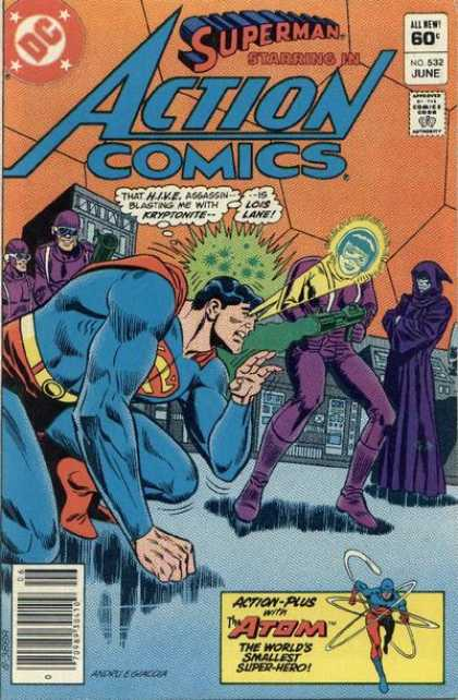 Action Comics 532 - Superman - Kryptonite - Gun - Atom - Lois Lane - Ross Andru