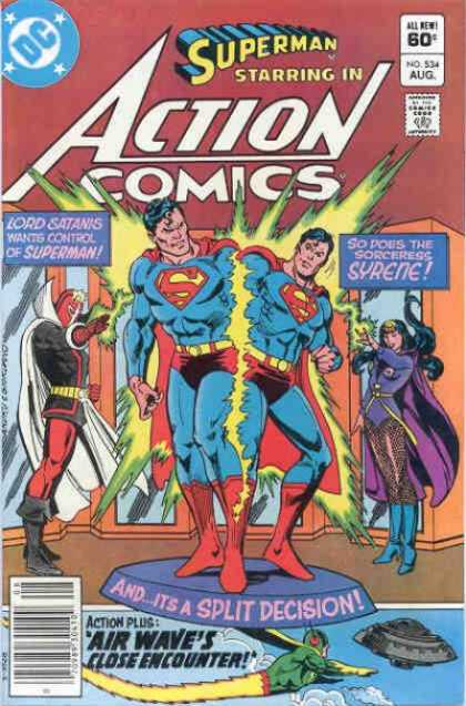 Action Comics 534 - Lord Satanis - Syrene - Superman - Sorceress Syrene - Air Wave - Dick Giordano, Ross Andru