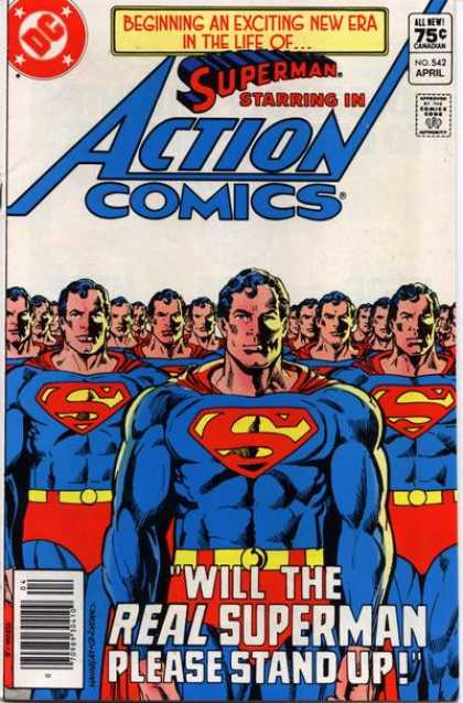 Action Comics 542 - Superman - Clones - Will The Real Superman Please Stand Up - Duplicates - Which One Is The Real One - Dick Giordano