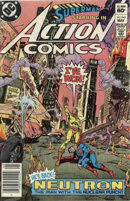 Action Comics 543 - Fire - Ross Andru