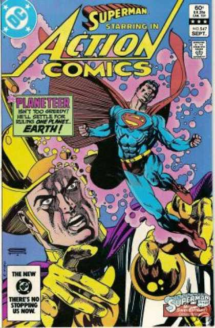 Action Comics 547 - Planeteer - Superman - Dc - Superhero - September