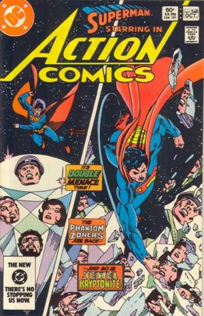 Action Comics 548 - Phantom Zone - Superman - Space - Jewel Kryptonite