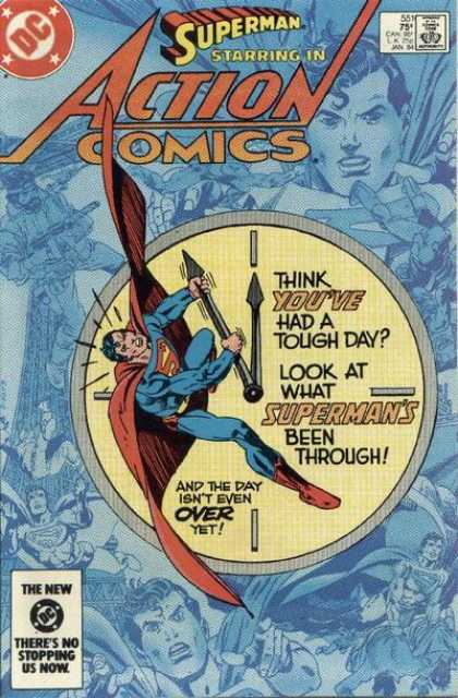 Action Comics 551 - Superman - Clock