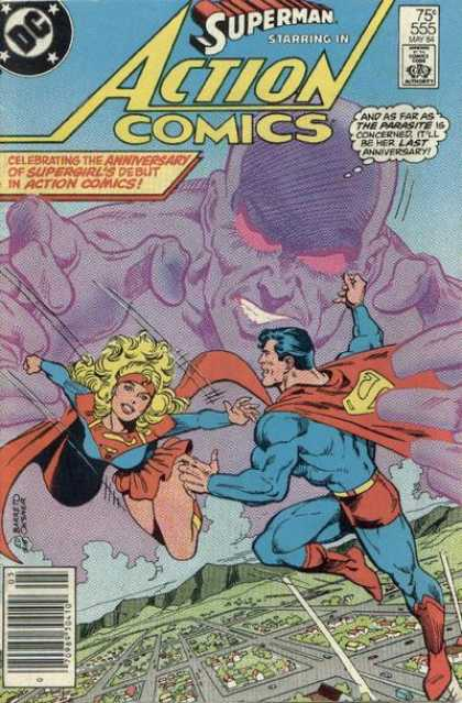 Action Comics 555 - Superman - Parasite - Superwoman - Action Comics - Starring - Bob Oksner, Eduardo Barreto
