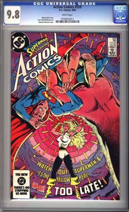 Action Comics 559 - Woman - Superman - Finger - Boots - Costume - Eduardo Barreto