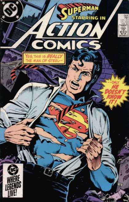Action Comics 564 - Superman - Shirt - Tie - Clark Kent - Dc - Eduardo Barreto