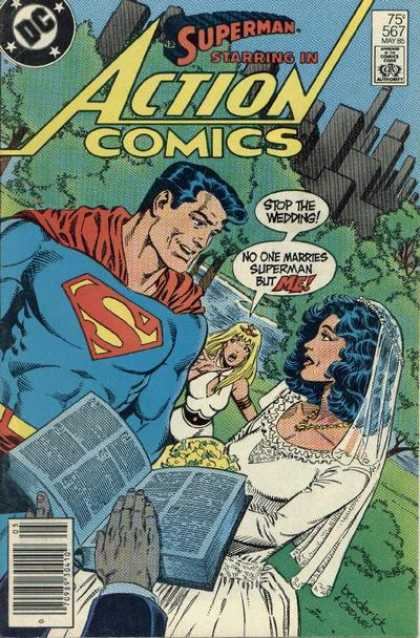 Action Comics 567 - Superman - Bible - Wedding - Lois Lane - Bride - Jerry Ordway