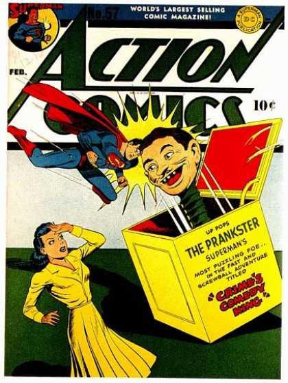 Action Comics 57 - Superman - Jack In The Box - Prankster - Lois Lane - Crimes Comedy King