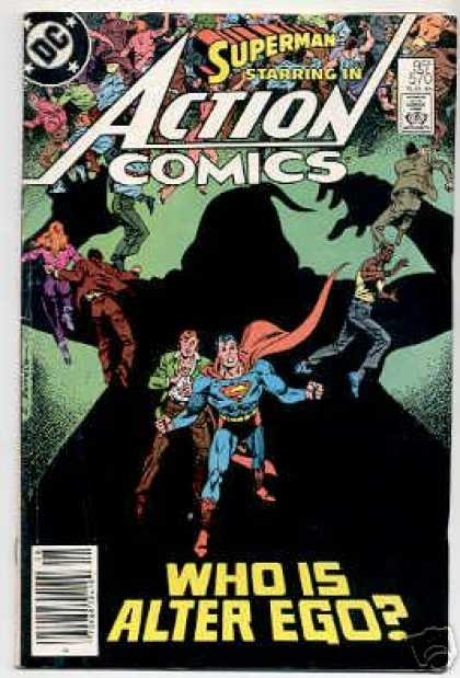 Action Comics 570 - Monster - Giant - Villain - Superman - Alter Ego - Eduardo Barreto