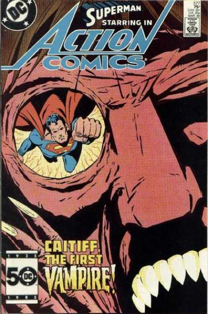 Action Comics 577 - Vampire - Superman - Caitiff - Eye - Dc - Bob Oksner, Keith Giffen