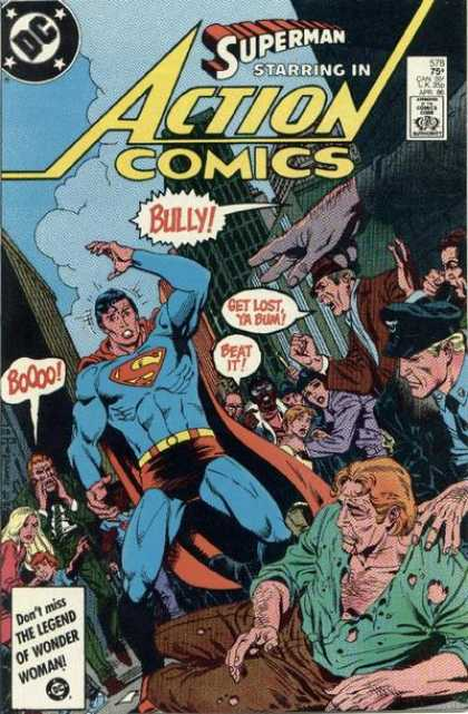 Action Comics 578 - Superman - Bum - Bully - Legend - Cop - Eduardo Barreto