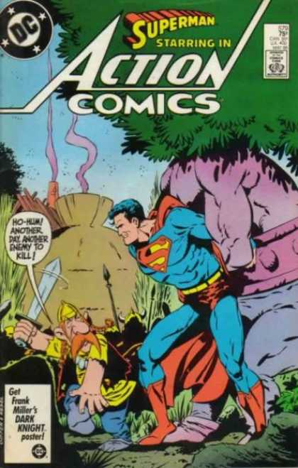 Action Comics 579 - Superman - Asterix - Viking - Monster - Sword - Keith Giffen