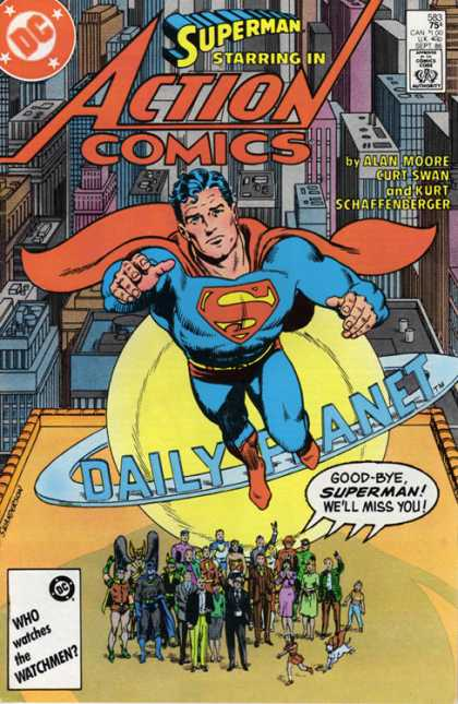 Action Comics 583 - Daily Planet - Superman - Alan Moore - Goodbye - Robin - Curt Swan, Murphy Anderson