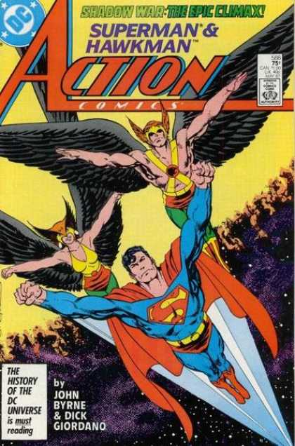Action Comics 588 - Superman - Hawkman - John Byrne